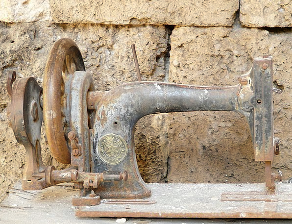 Sewing Machine Craft Ancient Industry Rusted Corro