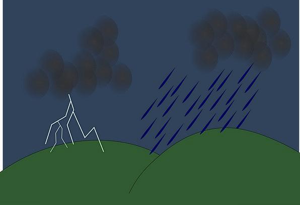 Thunderstorm Storm Fast Clouds Vapors Lightning St