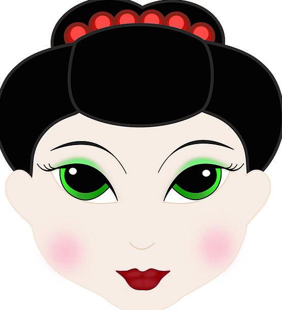 Girl Lassie Expression Cartoon Animation Face Head