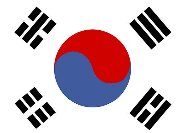 South Korea Standard Republic Of Korea Flag Asia N