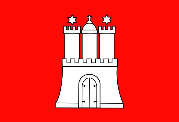 Hamburg Standard Germany Flag Signs Ciphers Symbol