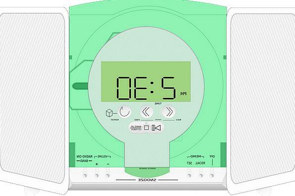 Radio Wireless Actor Clock Timepiece Player Set St