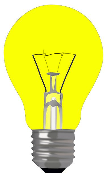 Bulb Corm Bright Lamp Uplighter Light Yellow Elect