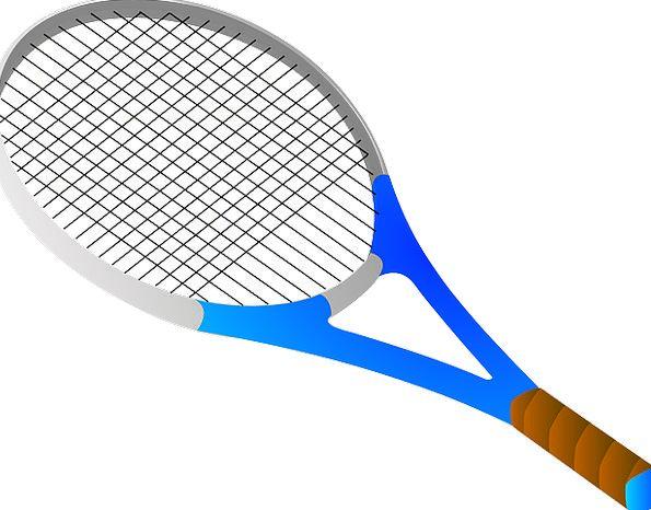 Bat Blue Azure Tennis Racket Row Sport Game Divers