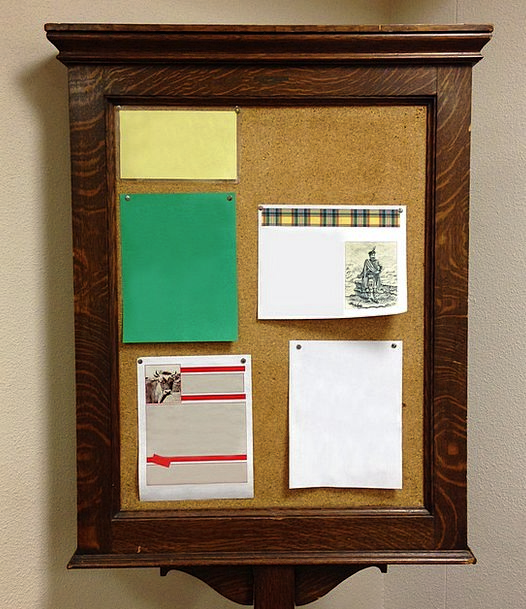 Bulletin Board Noticeboard Timber Antique Old Wood