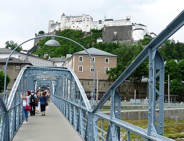 Mozartsteg Monuments Bond Places Web Mesh Bridge F