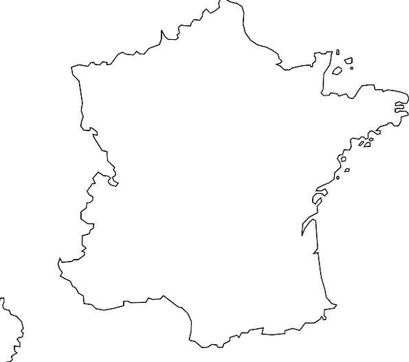 France Chart Geography Topography Map Europe Paris