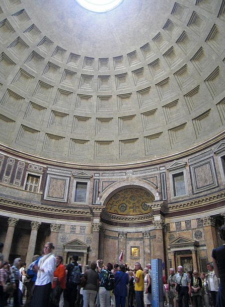 Pantheon Rome Dome Building Old Italy Romans Churc