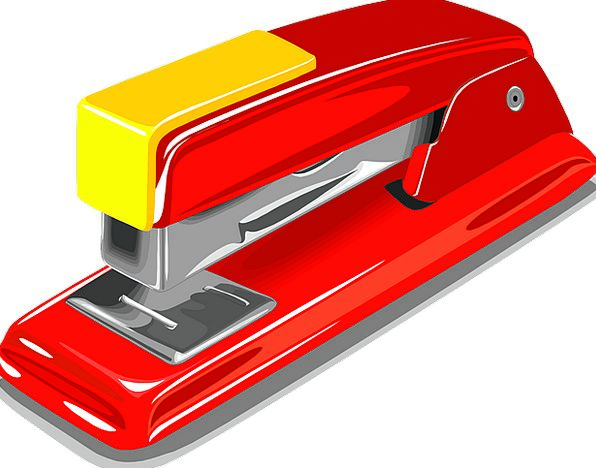 Stapler Main Stapling Fastening Staple Red Bloodsh