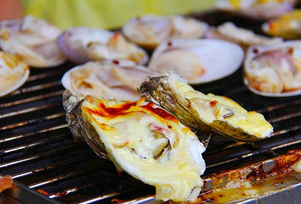 Bbq Barred Barbecued Oysters Grilled Yummy Delicio