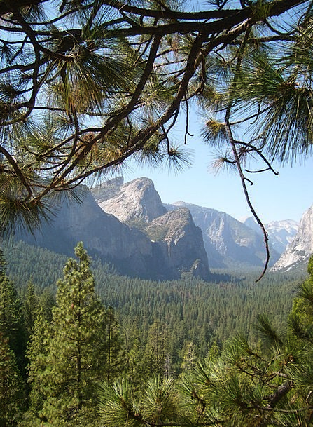 Mountains Crags Landscapes Nature Yosemite Nationa