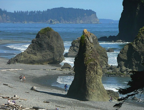 Ruby Beach Landscapes Nature Washington Olympic Na