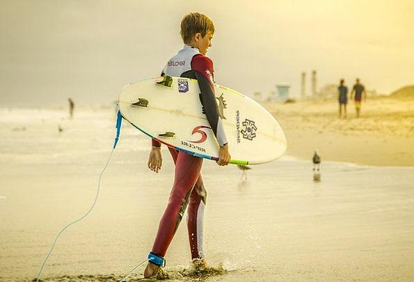 Surfer Surfing Surfboard Beach Boy Lad California