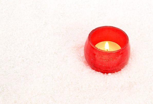 Burning Red-hot Taper Celebration Festivity Candle