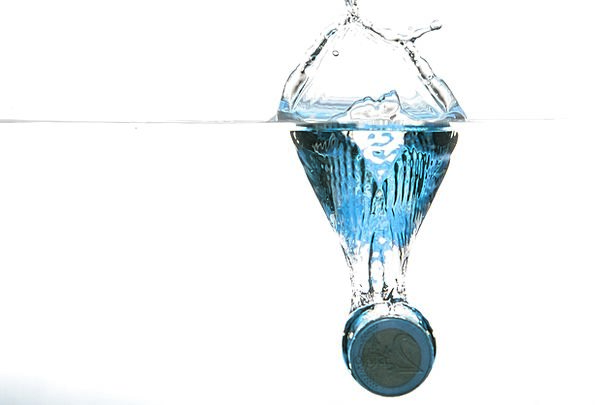 Coin Currency Aquatic Spray Sprig Water Water Surf