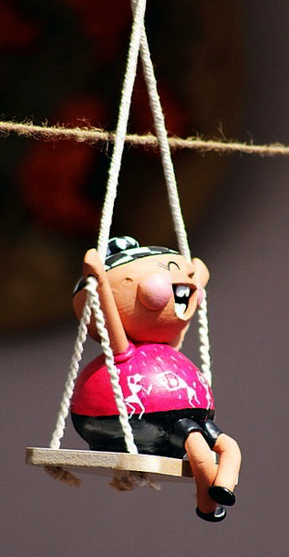 Puppets Marionettes Swipe Toy Doll Swing Happy Con