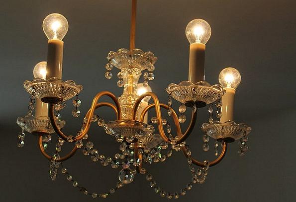 Crystal Chandelier Light Bulb Chandelier Gloss Lus