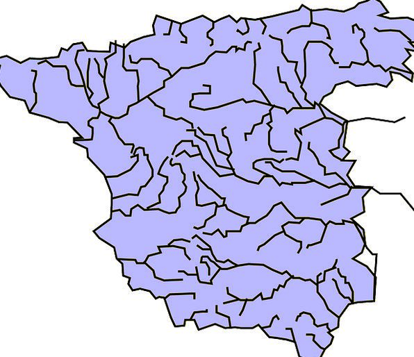 Spain Topography Rivers Streams Geography Watershe