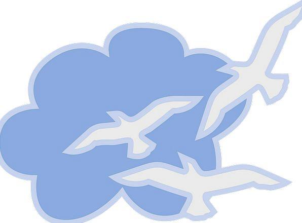 Cloud Mist Azure White Snowy Blue Sky Free Vector