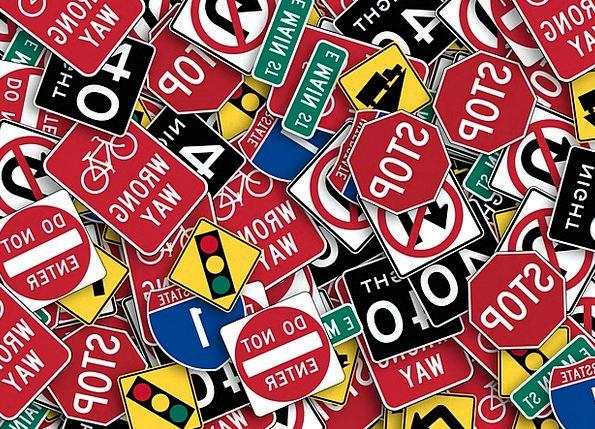Information Boards Traffic Transportation Road Sig