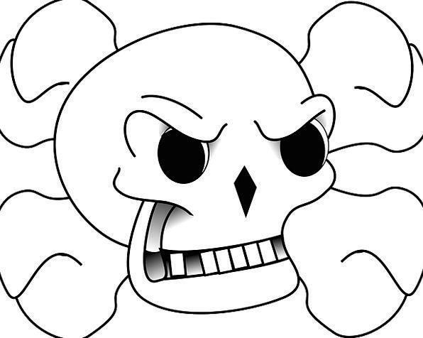Skull Mind Danger Hazard Crossbones Horror Fear Fr
