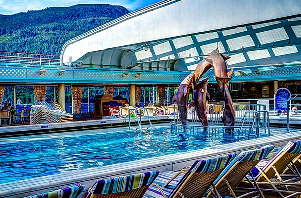 Cruise Ship Vacation Travel Pool Pond Deck Of Ship