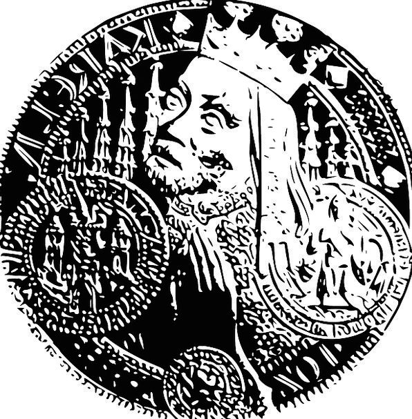 Coin Currency Finance Business King Monarch Czech