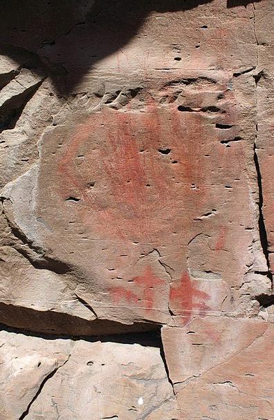Pictograph Symbol Drawing Sketch Rock Art East Nat