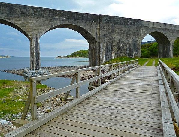 Bridge Bond Landscapes Playful Nature River Stream