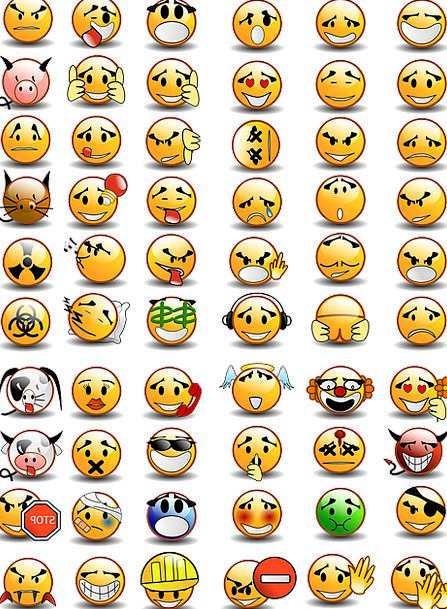 Emoticons Usual Collection Group Set Smilies Expre