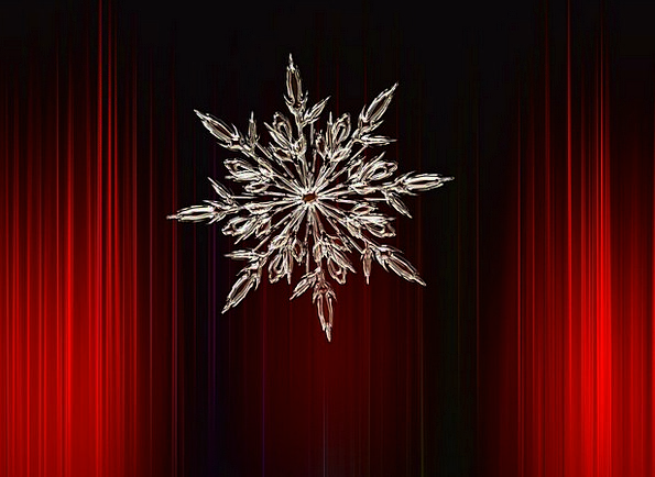 Snowflake Snow Ice Ice Crystal Red Cold Emotionles