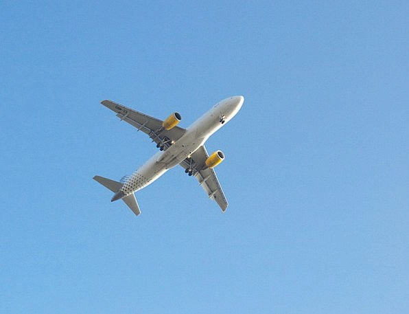 Aircraft Airplane Leaflet Sky Blue Flyer Landing M
