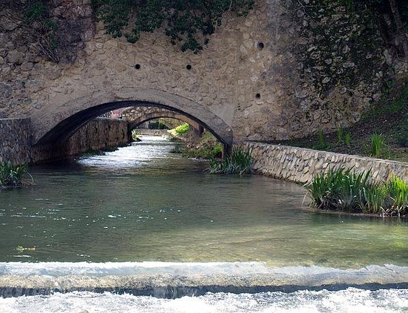 Water Aquatic Landscapes Stream Nature Bridge Bond