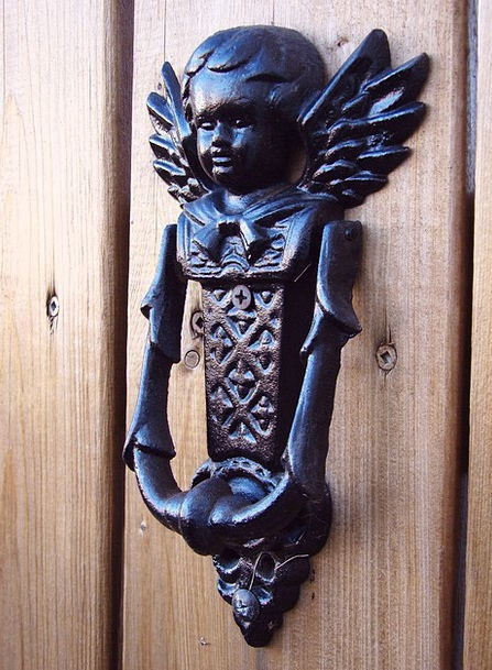 Knocker Knob Entrance Metal Metallic Door Antique