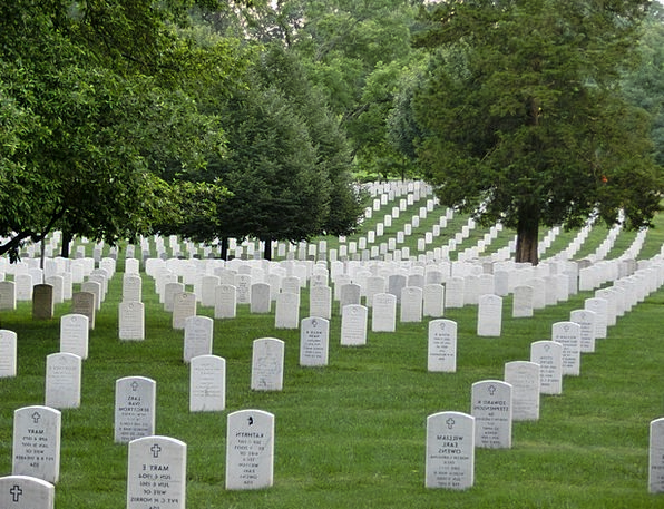 Military Cemetery Commemorative Usa Memorial War M