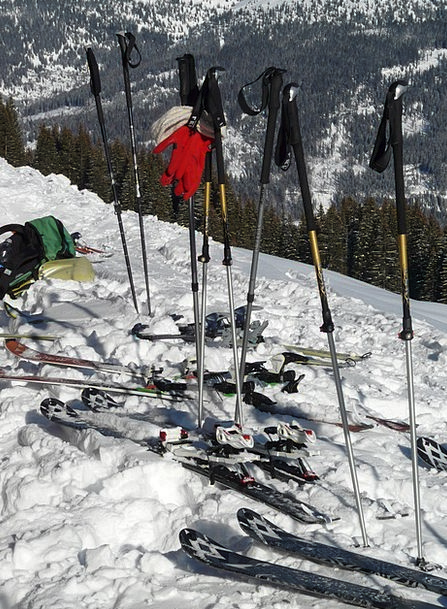 Ski Poles Firewood Ski Sticks Binding Touring Skis