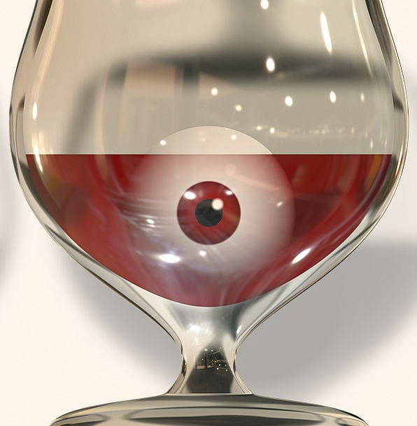 Glass Cut-glass Mauve Eye Judgment Wine Iris Wine
