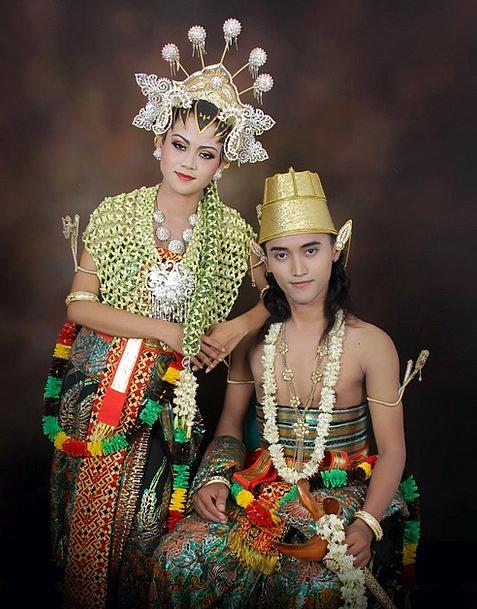 Wedding Bridal Java Indonesian Woman Husband Spous