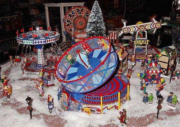 Christmas Market Fairground-Model Miniatures Toys
