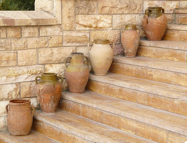 Amphora Urns Pottery Ceramic Vases Stairs Staircas