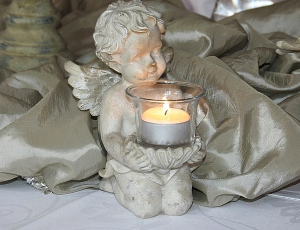 Angel Seraph Candle Taper Amor Wedding Chandelier