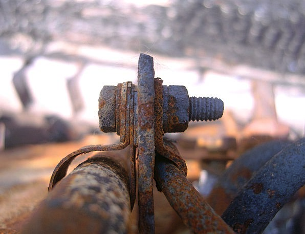 Clamp Lock Firm Bolt Connection Iron Old Iron Scre