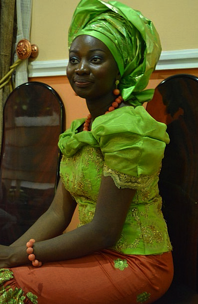 Traditional Wedding Africa Gele Occasion Time Blac