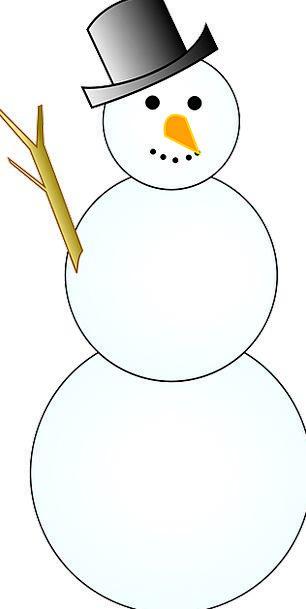 Snowman Season December Winter Snow Snowflake Cold