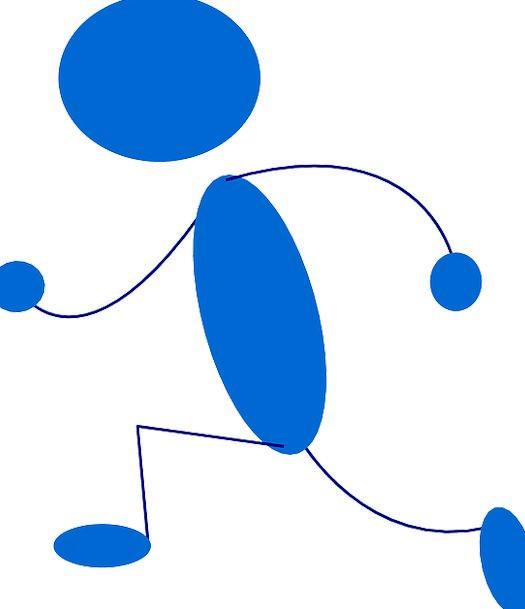 Stickman Running Consecutively Stick Figure Free V