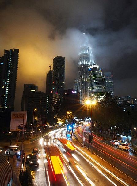 Malaysia Traffic Transportation Klcc Kuala Lumpur