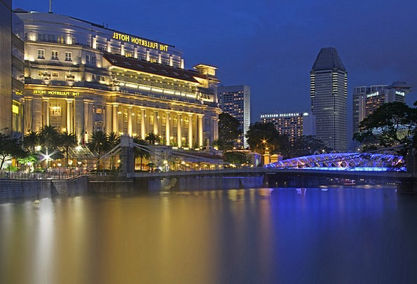 Singapore View Opinion Fullerton Hotel Lighting Il
