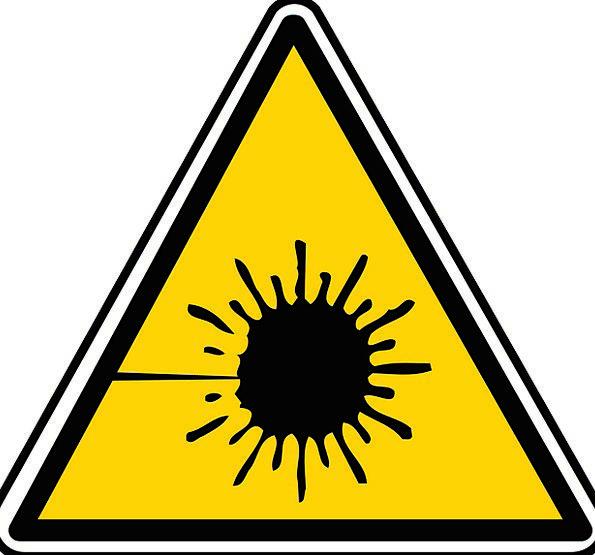 Laser Energy Warning Cautionary Radiation Careful