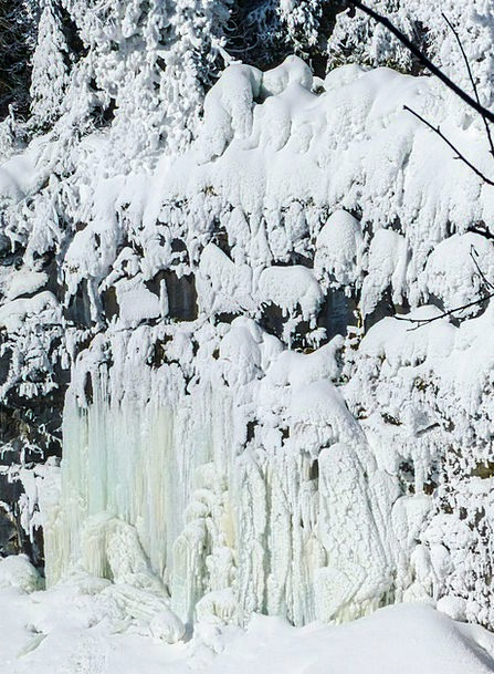 Ice Landscapes Cascade Nature Frozen Ice-covered W