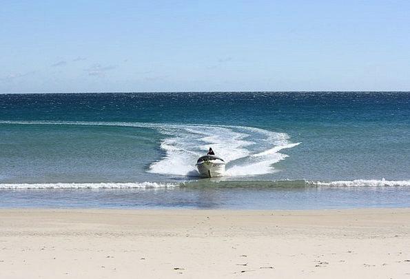 Motorboat Speedboat Vacation Seashore Travel Ocean